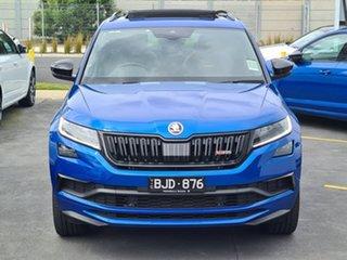 2020 Skoda Kodiaq NS MY21 RS DSG Blue 7 Speed Sports Automatic Dual Clutch Wagon.