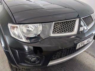 2014 Mitsubishi Triton MN MY15 GLX-R Double Cab Black 5 Speed Manual Utility.