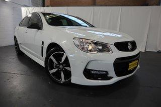 2016 Holden Commodore VF II MY16 SV6 Black White 6 Speed Sports Automatic Sedan.