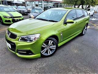 2015 Holden Commodore VF MY15 SV6 Sportwagon Green 6 Speed Sports Automatic Wagon.