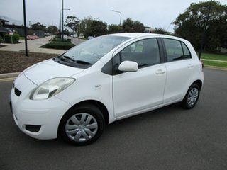 2008 Toyota Yaris NCP90R 08 Upgrade YR White 4 Speed Automatic Hatchback
