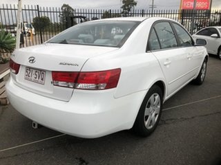 2007 Hyundai Sonata NF White 4 Speed Sequential Auto Sedan.