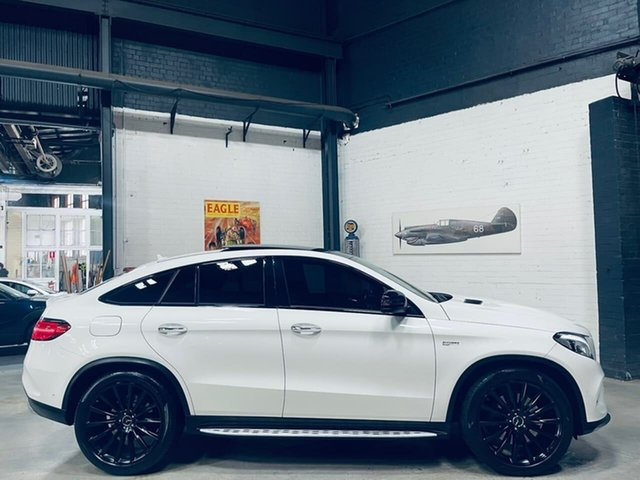 Used Mercedes-Benz GLE-Class C292 807MY GLE43 AMG Coupe 9G-Tronic 4MATIC Port Melbourne, 2016 Mercedes-Benz GLE-Class C292 807MY GLE43 AMG Coupe 9G-Tronic 4MATIC White 9 Speed