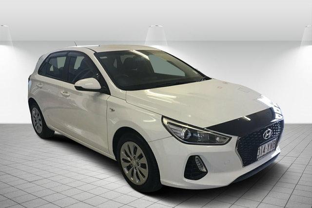 Used Hyundai i30 PD MY19 Go Maryborough, 2018 Hyundai i30 PD MY19 Go White 6 Speed Sports Automatic Hatchback