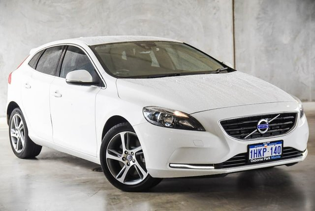 Used Volvo V40 M Series MY16 T3 Adap Geartronic Kinetic Osborne Park, 2015 Volvo V40 M Series MY16 T3 Adap Geartronic Kinetic White 6 Speed Sports Automatic Hatchback