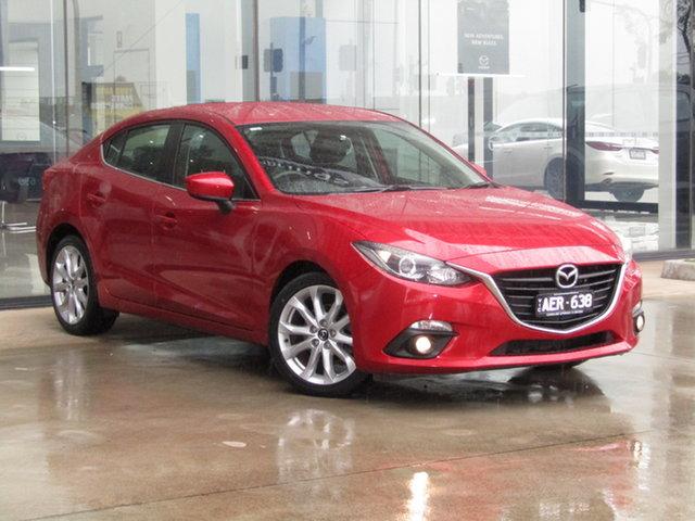 Used Mazda 3 BM5238 SP25 SKYACTIV-Drive Ravenhall, 2015 Mazda 3 BM5238 SP25 SKYACTIV-Drive Red 6 Speed Sports Automatic Sedan