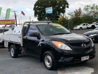 2012 Mazda BT-50 UP0YD1 XT Black 6 Speed Manual Cab Chassis.