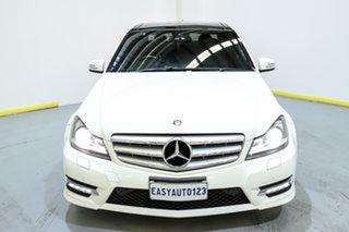 2013 Mercedes-Benz C-Class W204 MY13 C250 CDI 7G-Tronic + Avantgarde White 7 Speed Sports Automatic.