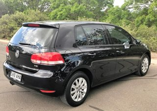 2010 Volkswagen Golf VI MY10 90TSI Trendline Black 6 Speed Manual Hatchback
