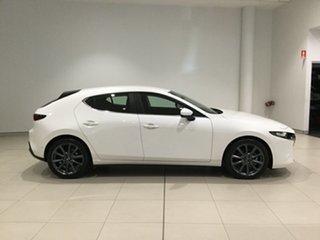 2020 Mazda 3 BP2HL6 G25 SKYACTIV-MT Evolve Snowflake White 6 Speed Manual Hatchback.