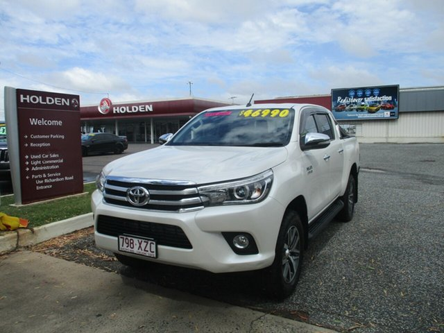 Used Toyota Hilux GUN126R SR5 Double Cab North Rockhampton, 2016 Toyota Hilux GUN126R SR5 Double Cab White 6 Speed Sports Automatic Utility
