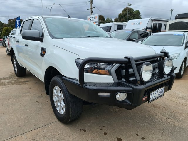 Used Ford Ranger PX MkII XLS Double Cab Epsom, 2016 Ford Ranger PX MkII XLS Double Cab White 6 Speed Manual Utility