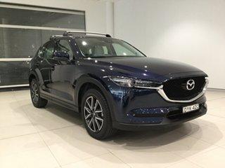 2018 Mazda CX-5 KF4WLA GT SKYACTIV-Drive i-ACTIV AWD Blue 6 Speed Sports Automatic Wagon.
