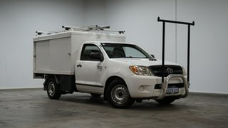 2007 Toyota Hilux KUN16R MY07 SR 4x2 White 5 Speed Manual Cab Chassis.