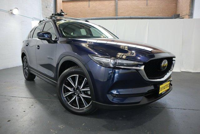 Used Mazda CX-5 KF4WLA GT SKYACTIV-Drive i-ACTIV AWD Castle Hill, 2019 Mazda CX-5 KF4WLA GT SKYACTIV-Drive i-ACTIV AWD Blue 6 Speed Sports Automatic Wagon