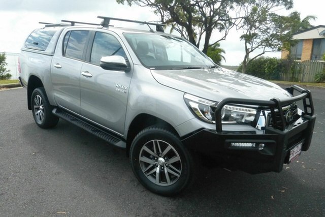 Used Toyota Hilux GUN126R SR5 Double Cab Gladstone, 2020 Toyota Hilux GUN126R SR5 Double Cab Grey 6 Speed Sports Automatic Utility
