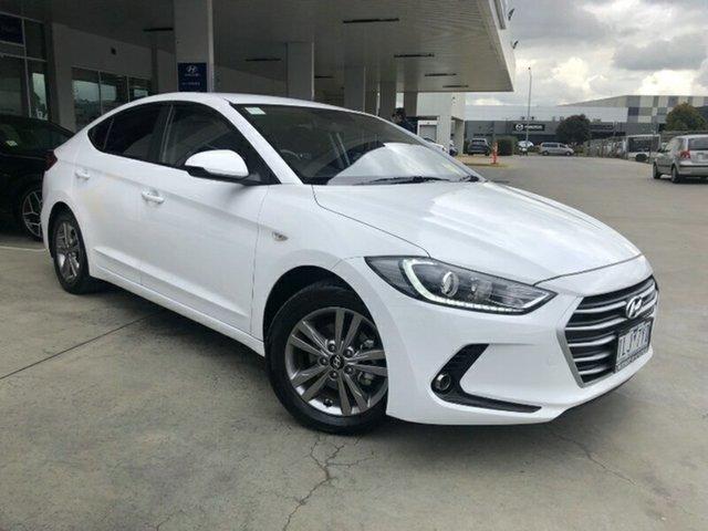 Used Hyundai Elantra AD MY18 Active Ravenhall, 2017 Hyundai Elantra AD MY18 Active Polar White 6 Speed Sports Automatic Sedan