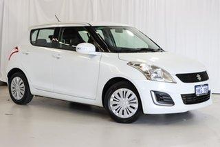 2015 Suzuki Swift FZ MY15 GL White 4 Speed Automatic Hatchback.