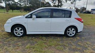 2010 Nissan Tiida C11 S3 TI White 6 Speed Manual Hatchback.