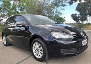 2010 Volkswagen Golf VI MY10 90TSI Trendline Black 6 Speed Manual Hatchback.