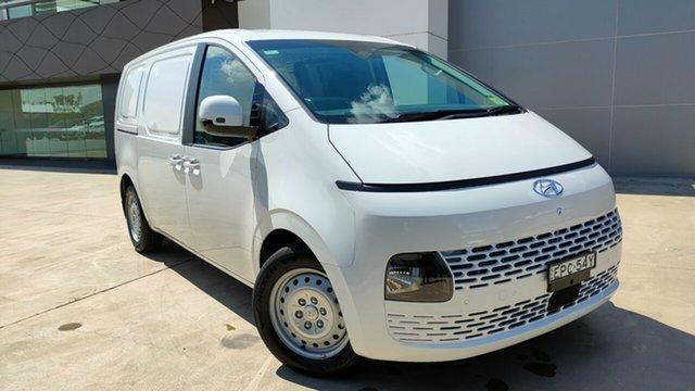 Demo Hyundai Staria-Load US4.V1 MY22 Tuggerah, 2021 Hyundai Staria-Load US4.V1 MY22 Creamy White 8 Speed Sports Automatic Van
