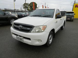 2007 Toyota Hilux GGN15R 06 Upgrade SR White 5 Speed Automatic Pickup.