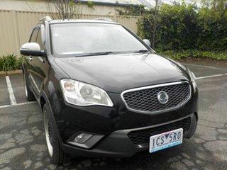 2012 Ssangyong Korando C200 SX Black 6 Speed Automatic Wagon.