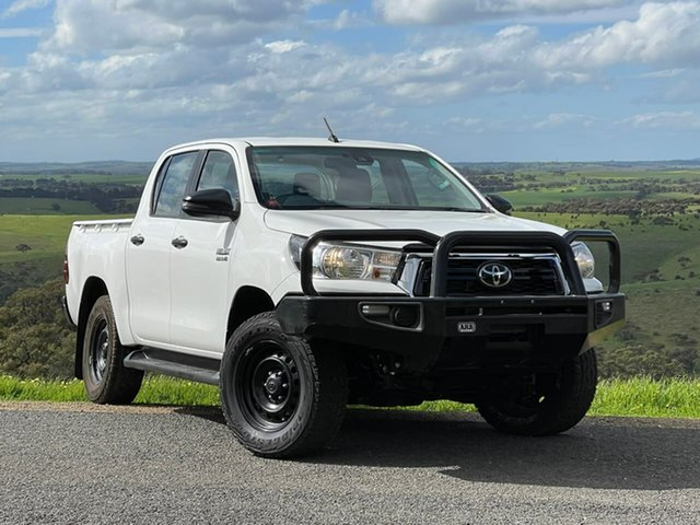 Used Toyota Hilux GUN126R SR Double Cab Clare, 2019 Toyota Hilux GUN126R SR Double Cab White 6 Speed Sports Automatic Utility