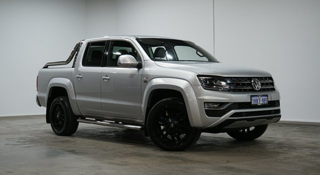 Used Volkswagen Amarok 2H MY19 TDI580 4MOTION Perm Ultimate Welshpool, 2018 Volkswagen Amarok 2H MY19 TDI580 4MOTION Perm Ultimate Silver 8 Speed Automatic Utility