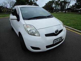 2008 Toyota Yaris NCP90R 08 Upgrade YR White 4 Speed Automatic Hatchback.