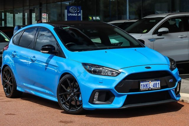 Used Ford Focus LZ RS AWD Limited Edition Gosnells, 2017 Ford Focus LZ RS AWD Limited Edition Blue 6 Speed Manual Hatchback