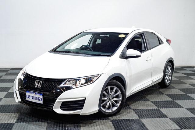 Used Honda Civic 9th Gen MY15 VTi-S Edgewater, 2015 Honda Civic 9th Gen MY15 VTi-S White 5 Speed Sports Automatic Hatchback