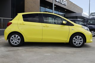 2015 Toyota Yaris NCP131R SX Yellow 4 Speed Automatic Hatchback.