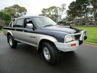 2004 Mitsubishi Triton MK MY04 GLS (4x4) Blue 5 Speed Manual 4x4 Double Cab Utility.