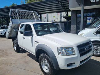 2008 Ford Ranger PJ 07 Upgrade XL (4x2) White 5 Speed Manual Super Cab Chassis.