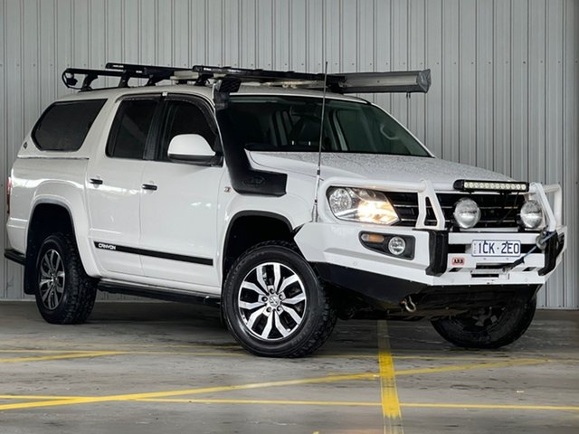 Used Volkswagen Amarok 2H MY14 TDI420 4MOTION Perm Canyon Moorabbin, 2014 Volkswagen Amarok 2H MY14 TDI420 4MOTION Perm Canyon White 8 Speed Automatic Utility