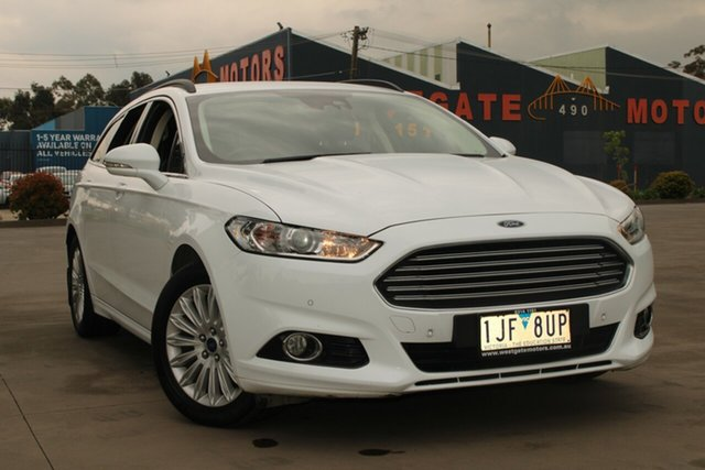 Used Ford Mondeo MD Trend TDCi West Footscray, 2016 Ford Mondeo MD Trend TDCi White 6 Speed Automatic Wagon