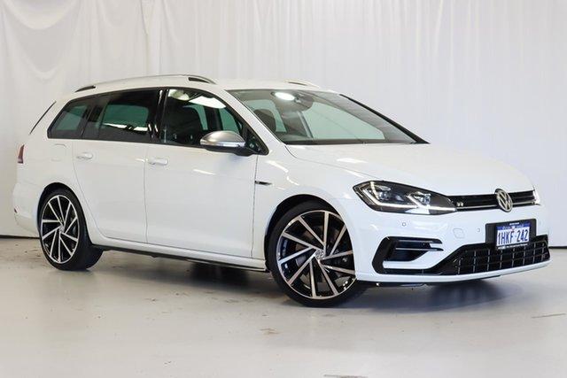 Used Volkswagen Golf 7.5 MY19.5 R DSG 4MOTION Wangara, 2019 Volkswagen Golf 7.5 MY19.5 R DSG 4MOTION White 7 Speed Sports Automatic Dual Clutch Wagon