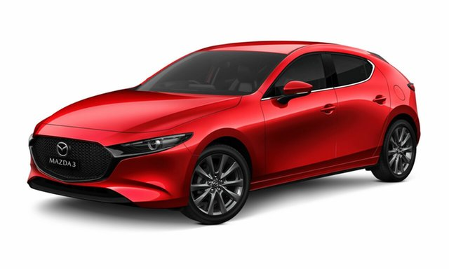 New Mazda 3 BP G25 GT Toowoomba, 2021 Mazda 3 BP G25 GT Soul Red Crystal 6 Speed Automatic Hatchback