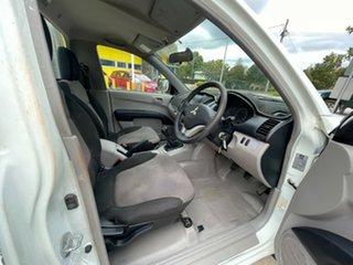 2012 Mitsubishi Triton MN MY12 GL 4x2 White 5 Speed Manual Cab Chassis.