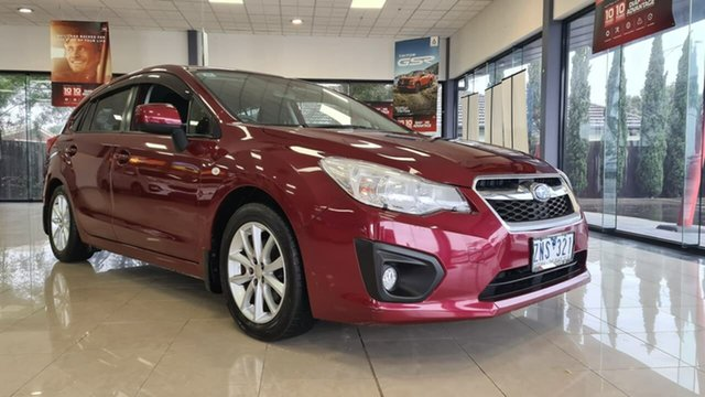 Pre-Owned Subaru Impreza G4 MY13 2.0i Lineartronic AWD Wonthaggi, 2013 Subaru Impreza G4 MY13 2.0i Lineartronic AWD Red 6 Speed Constant Variable Hatchback