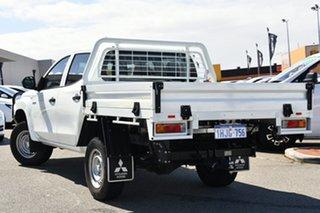 2018 Mitsubishi Triton MR MY19 GLX Double Cab ADAS White 6 Speed Sports Automatic Cab Chassis.
