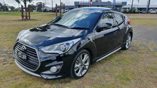 2017 Hyundai Veloster FS5 Series II SR Coupe D-CT Turbo Black 7 Speed Sports Automatic Dual Clutch.