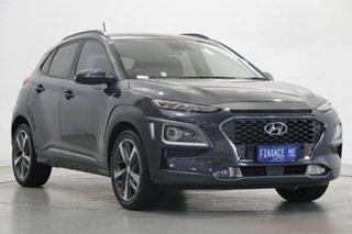 2017 Hyundai Kona OS MY18 Highlander 2WD Dark Knight 6 Speed Sports Automatic Wagon