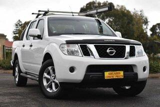 2013 Nissan Navara D40 S6 MY12 ST 4x2 White 5 Speed Sports Automatic Utility.