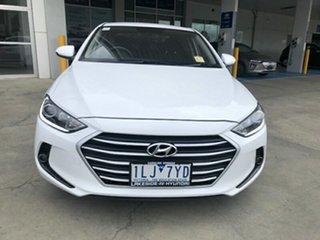2017 Hyundai Elantra AD MY18 Active Polar White 6 Speed Sports Automatic Sedan.