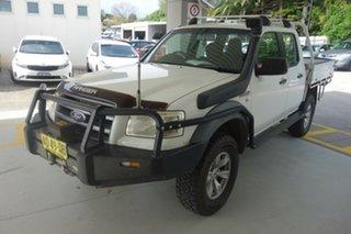 2007 Ford Ranger PJ XL Crew Cab White 5 Speed Manual Utility.