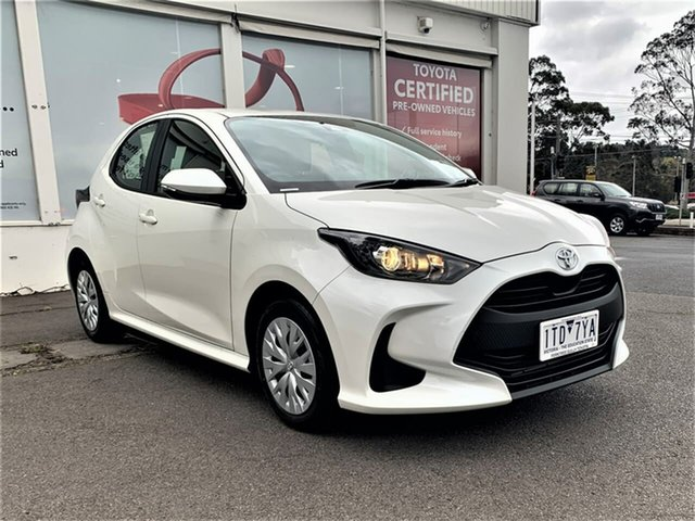 Pre-Owned Toyota Yaris Mxpa10R Ascent Sport Ferntree Gully, 2020 Toyota Yaris Mxpa10R Ascent Sport Crystal Pearl 1 Speed Constant Variable Hatchback
