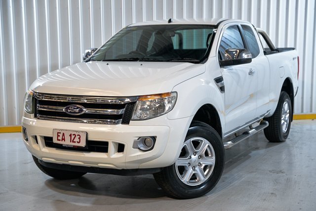 Used Ford Ranger PX XLT Super Cab 4x2 Hi-Rider Hendra, 2014 Ford Ranger PX XLT Super Cab 4x2 Hi-Rider White 6 Speed Sports Automatic Utility