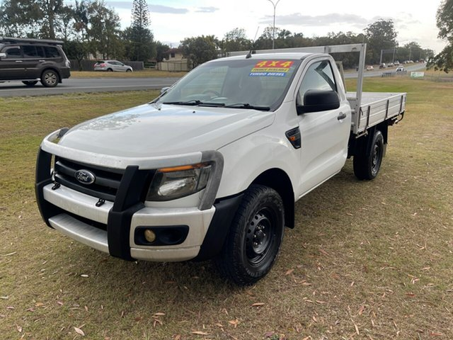 Used Ford Ranger PX XL Clontarf, 2012 Ford Ranger PX XL White 6 Speed Manual Cab Chassis